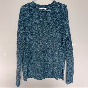 Vince Wool Blend Green Knit Crew Neck Sweater Size Large